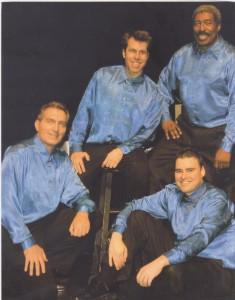 The New York Vagabonds (from left, clockwise: Gabriel DeAngelo, Michael Walsh, me, Joshua Walter)