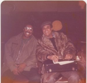 Me with Harry Belafonte at Nice airport