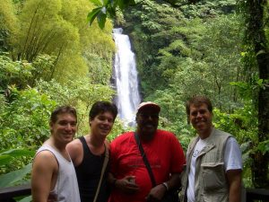 In Dominica with James Baylis, Mike Backes and Michael Walsh