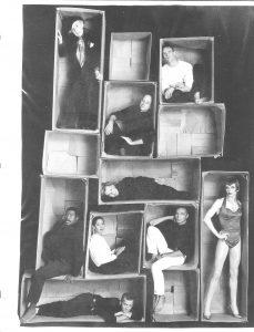 Photo shoot for Harper's Bazaar [top to bottom, left to right: Quentin Crisp, David Drake, Jon Arterton, Roberta Maxwell, me, Anna Deavere Smith, Ron Vawter, John Epperson (aka Lypsinka), Jimmy Rutland